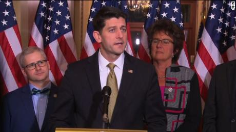House Speaker Paul Ryan, a Wisconsin Republican, who was on the train that crashed Wednesday.
