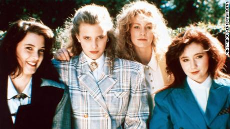 "A still from the 1988 black comedy ""Heathers."""