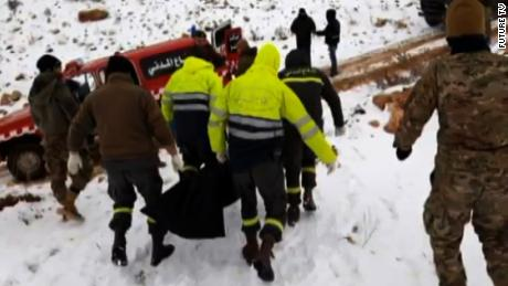 "Bodies of twelve Syrian refugees who crossed into Lebanon in an attempt to sneak into Lebanese territory have been found frozen in a mountainous area near the border with Syria, according statement by the Lebanese military and state-run NNA.   Among those who froze to death were three children, NNA said.   According to NNA, the Lebanese Civil Defense, in cooperation with the Lebanese army, on Friday collected twelve bodies that had been found on a smuggling route in al-Masnaa area and transferred them to a hospital.   Three others found alive in a nearby area and have been transferred immediately to the hospital for urgent medical treatment, state news said.   ""The army saved six other displaced Syrians, one of whom died later in a hospital from frostbite,"" the military statement added"