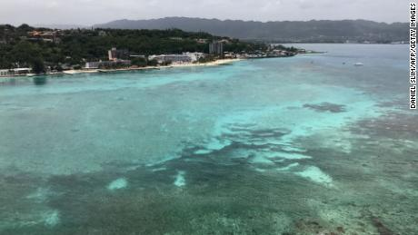An aerial view shows Montego Bay, Jamaica, in May last year.