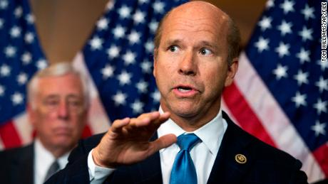 UNITED STATES - APRIL 28: Rep. John Delaney, D-Md., speaks during news conference in Capitol Visitor Center on the fiduciary rule which is meant to help Americans save for retirement, April 28, 2016. House Minority Whip Steny Hoyer, D-Md., appears at left (Photo By Tom Williams/CQ Roll Call) (CQ Roll Call via AP Images)