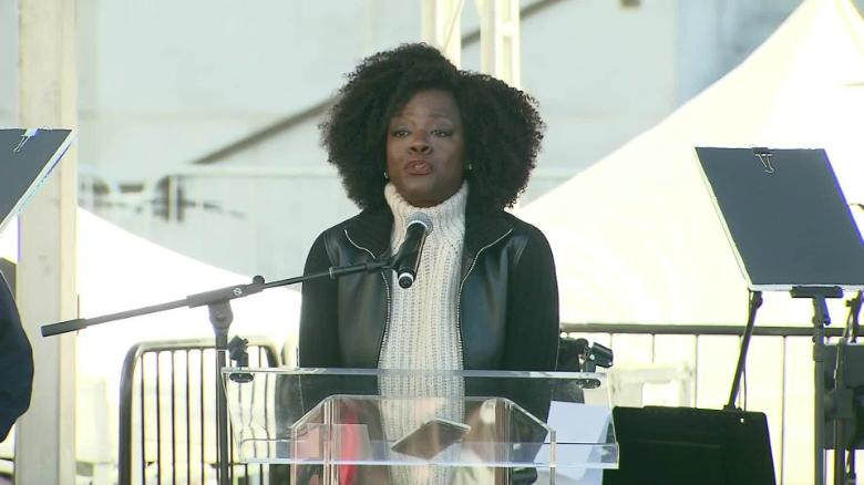 Viola Davis speaks to 'Me too' moment at LA Women's March