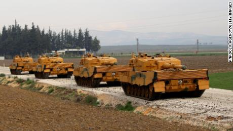"Tanks are being transported to Hatay, Turkey as part of the ""Operation Olive Branch"" on January 21, 2018. The operation aims to establish security and stability along Turkish borders and the region as well as to eliminate terrorists and to protect Syrian people from the terrorists oppression and cruelty."