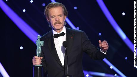 William H. Macy accepts the SAG Award for outstanding performance by a male actor in a comedy series for 'Shameless'