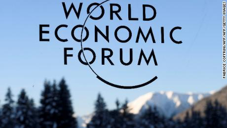 A sign and logo of the World Economic Forum is seen on the third day of the Forum's annual meeting, on January 19, 2017 in Davos. British Prime Minister Theresa May addresses the World Economic Forum in Davos just two days after unveiling her blueprint for the country's departure from the European Union / AFP / FABRICE COFFRINI        (Photo credit should read FABRICE COFFRINI/AFP/Getty Images)
