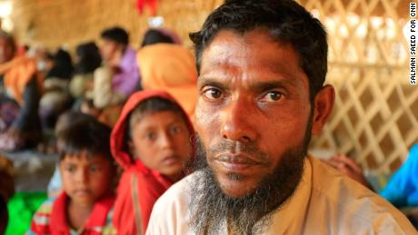 Portrait of Salim inside the Bhalukhali refugee camp, Cox's Bazar Bangladesh.