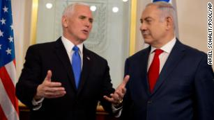 Mike Pence calls Jerusalem 'Israel's capital' on visit with Netanyahu