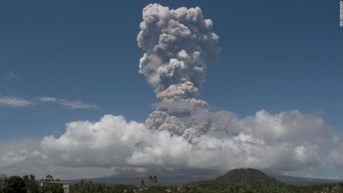 Mount Mayon volcano alert raised after ash and lava spill out