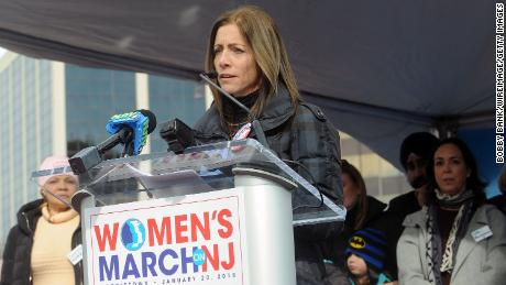 MORRISTOWN, NJ - JANUARY 20:  First Lady Tammy Murphy speaks at the 2nd Annual Women's March On New Jersey  on January 20, 2018 in Morristown, New Jersey.  (Photo by Bobby Bank/WireImage)