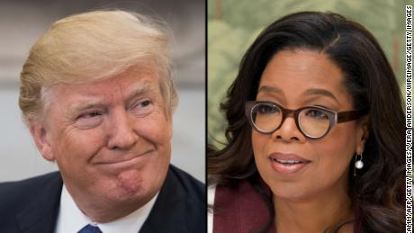 US President Donald Trump and Oprah Winfrey.