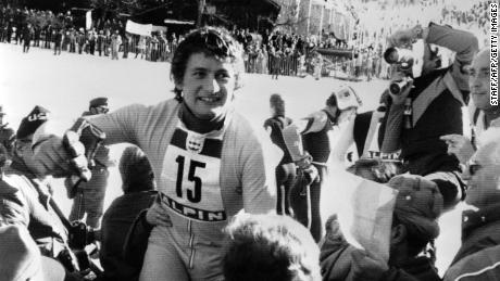 Franz Klammer pulled off a famous victory with his Olympic win in Innsbruck in 1976.