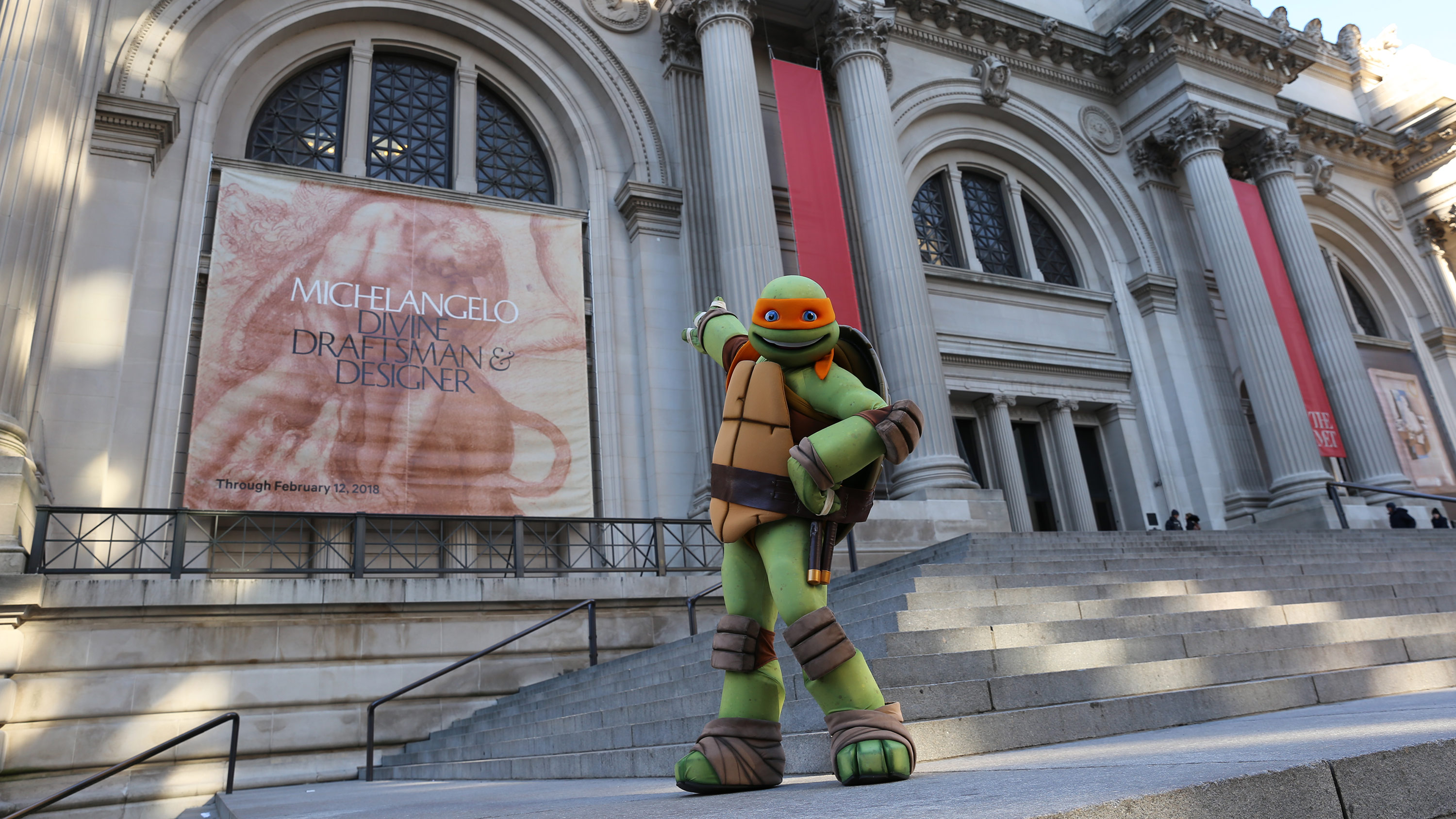 One Michelangelo (a turtle) visits another at the Met   CNN