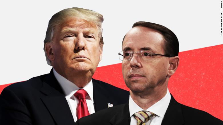 Trump Was Asked If He Trusts Rosenstein. The 5-Word Answer Will Keep Him Up Tonight