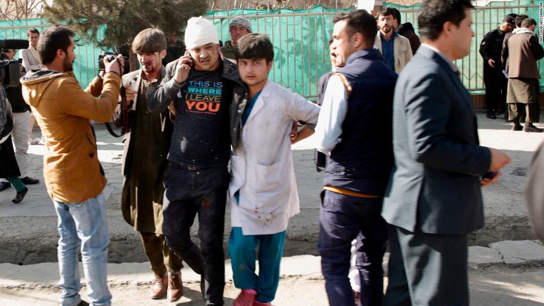 Taliban attacker driving ambulance packed with explosives kills 95 in Kabul