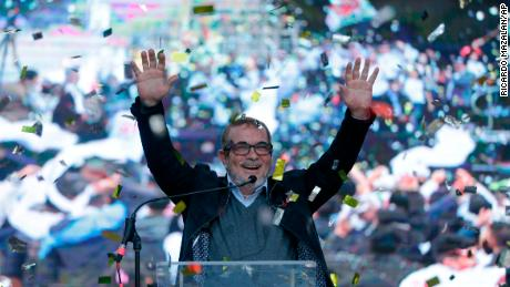 Rodrigo Londono is the first presidential candidate of a new political party formed by FARC's members in Colombia.