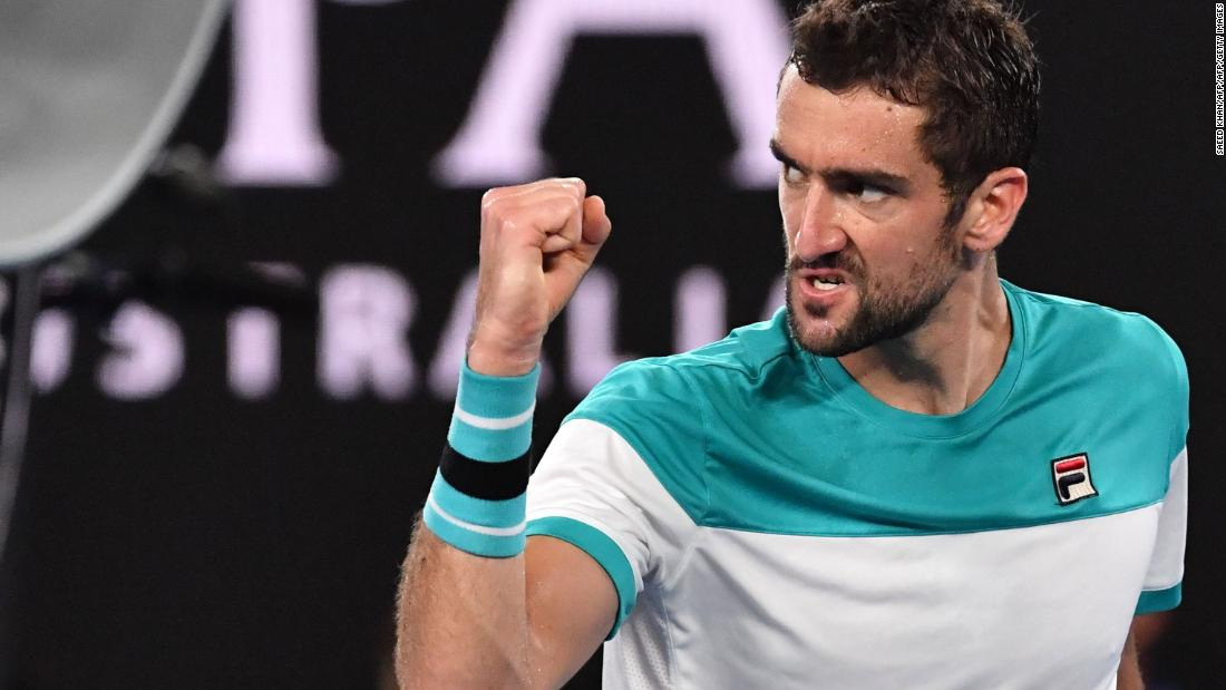 But Cilic hung on early in the second and the 2014 US Open winner claimed the second-set tiebreak to level.