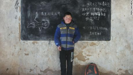 """Cherish life in afterlife. Mom committed suicide after arguing with dad when I was 11. I miss her!"" wrote Li Guojun 14 years old, at Majiawan elementary school, Longmen county."