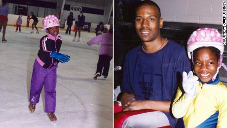 Maame Biney met Shani Davis, now a five-time Olympian, shortly after taking the ice at age 5.