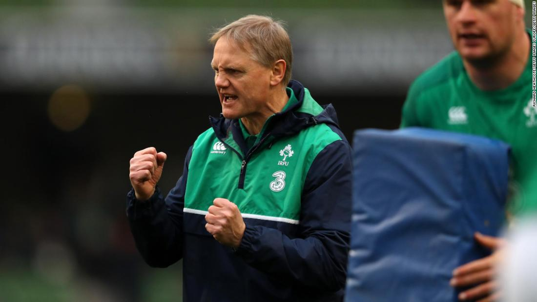 New Zealander Schmidt started his coaching tenure with Ireland with two Six Nations titles.