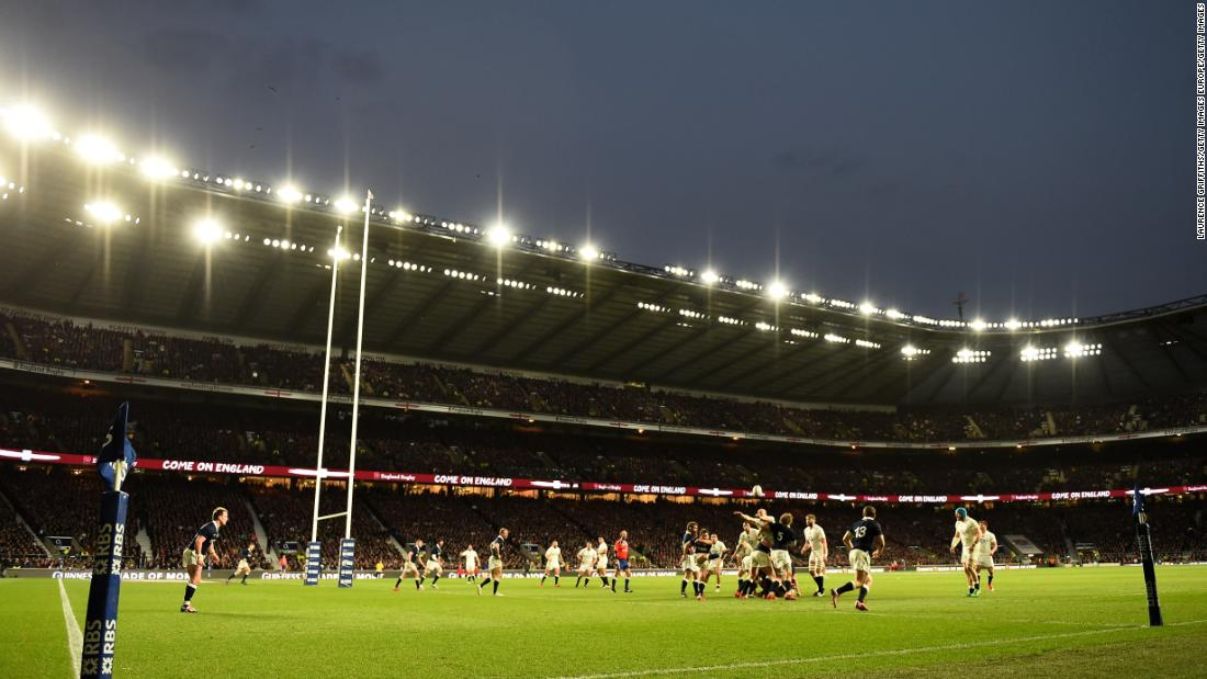 Twickenham stadium in London is the world's largest dedicated rugby venue with a capacity of 82,000. This year it hosts England's mouth-watering clashes with Ireland and Wales.