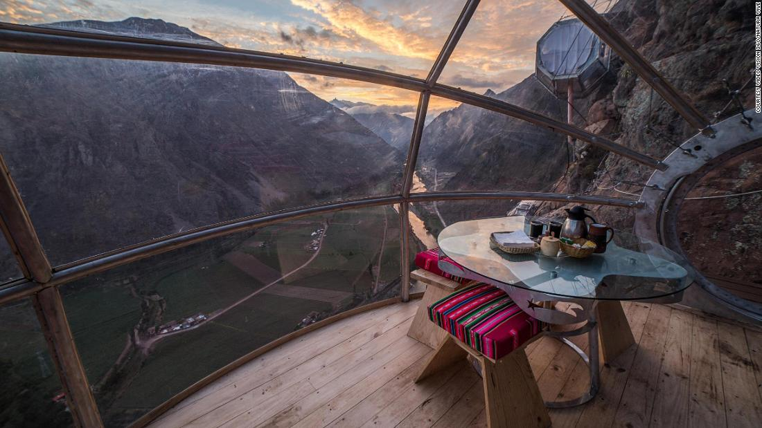 Would you sleep in a glass pod hanging off a Peruvian cliff?