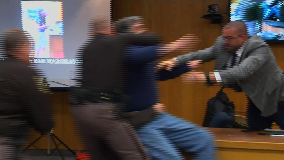 Father lunges at Larry Nassar in court before being restrained