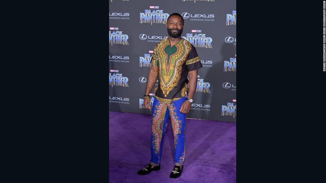 British-Nigerian actor and producer David Oyelowo rocking a simple traditional African dashiki.