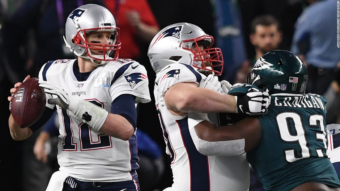<strong>Most passing yards in a Super Bowl:</strong> New England Patriots quarterback Tom Brady threw for 505 yards in 2018, and his team still lost to Philadelphia 41-33. Brady broke the record he set just one year earlier when he led his team to a 34-28 overtime victory over Atlanta.