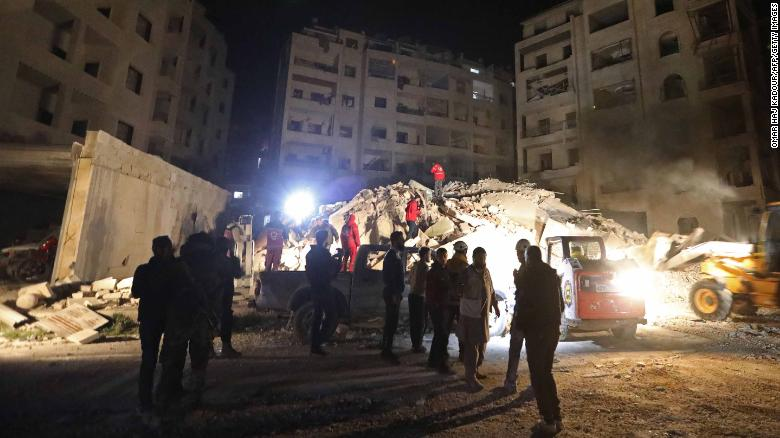 Russian airstrikes hit rebel-controlled Idlib