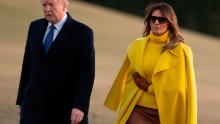 Melania travels separately amid reported 2006 affair