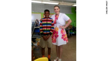 Chelsea Haley met student Jerome Robinson while she was teaching in Baton Rouge, Louisiana.