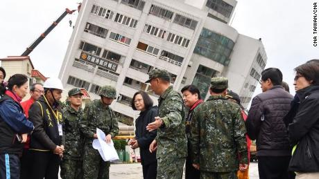 Hundreds of military personnel are in Hualien to assist with the rescue effort.