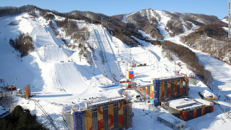 PyeongChang general view slopestyle venue