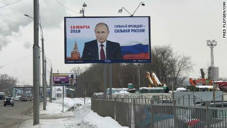 Election billboards in Novosibirsk