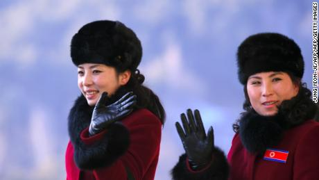 More than 200 young North Korean women have arrived in South Korea to root for athletes from both sides of the peninsula at the Winter Olympics