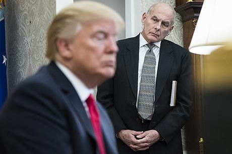 Kelly in harsh spotlight after White House senior aide's resignation