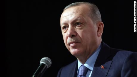 Turkish President Recep Tayyip Erdogan tells the ruling party Saturday in Istanbul about the crash.