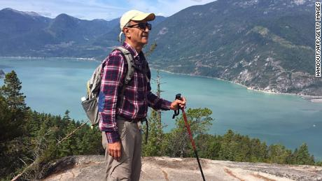 Iranian-Canadian environmentalist Kavous Seyed Emami, seen here at an unidentified location, in a photograph released on Sunday by his family.