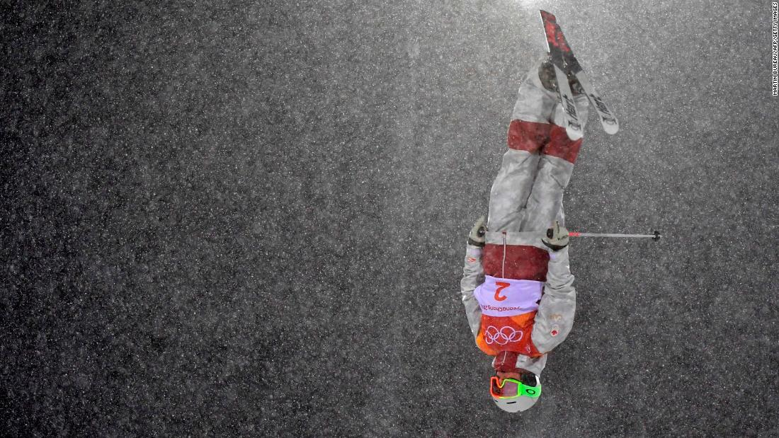 Canada's Andi Naude competes in the women's moguls.