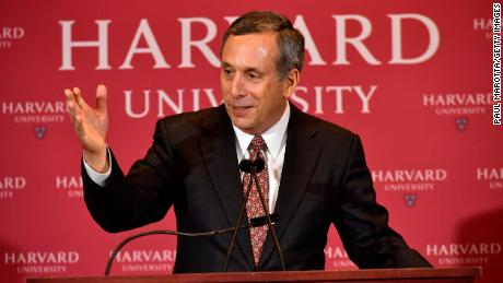 Lawrence Bacow is introduced as Harvard's 29th president during a news conference Sunday.