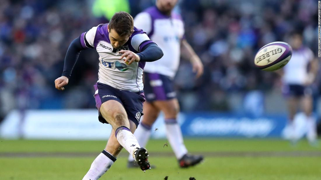 Greig Laidlaw put in a flawless kicking display, slotting 22 points from the tee.