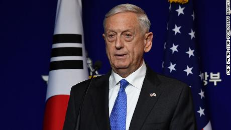 Mattis warns Syria on chemical weapons