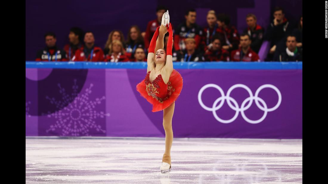 Alina Zagitova, an Olympic athlete from Russia, had an excellent performance in the team figure-skating event. She and her teammates won the silver.
