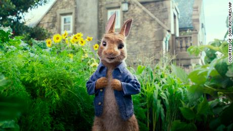 "FILE - This image released by Columbia Pictures shows Peter Rabbit, voiced by James Corden and Cottontail in a scene from ""Peter Rabbit.""  The filmmakers and the studio behind it are apologizing for insensitively depicting a character's allergy in the film that has prompted backlash online. Sony Pictures said Sunday, Feb. 11, 2018, in a statement the film ""should not have made light"" of a character being allergic to blackberries ""even in a cartoonish"" way. (Columbia Pictures/Sony via AP, File)"