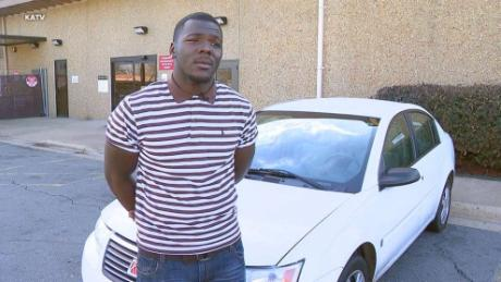 Trenton Lewis was gifted a 2006 Saturn Ion after his co-workers discovered he'd been walking 11 miles to work each day.