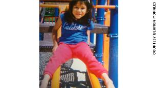 Blanca Morales when she was 7.  As a child she found sanctuary in learning.