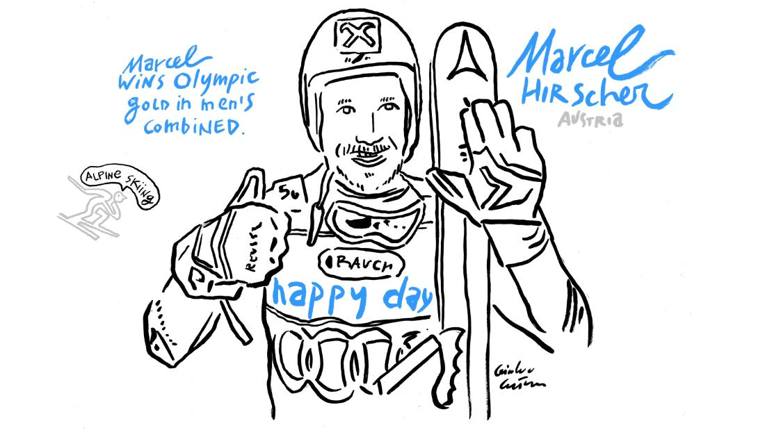 Marcel Hirscher sketch Winter Olympics