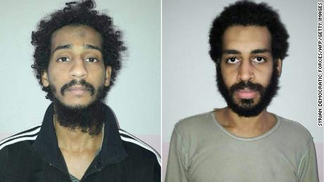 "The two surviving ""Beatles"", according to US officials: El Shafee Elsheikh (L) and Alexanda Kotey (R)."