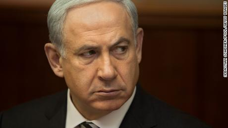 JERUSALEM, ISRAEL - NOVEMBER 11: Israel's Prime Minister Benjamin Netanyahu looks on during a weekly cabinet meeting on November 4, 2012 in Jerusalem, Israel. The Israeli military has today confirmed their forces have fired warning shots into Syria after stray mortar fire struck the Israeli settlement of Golan Heights. (Photo by Sebastian Scheiner/Pool/Getty Images)