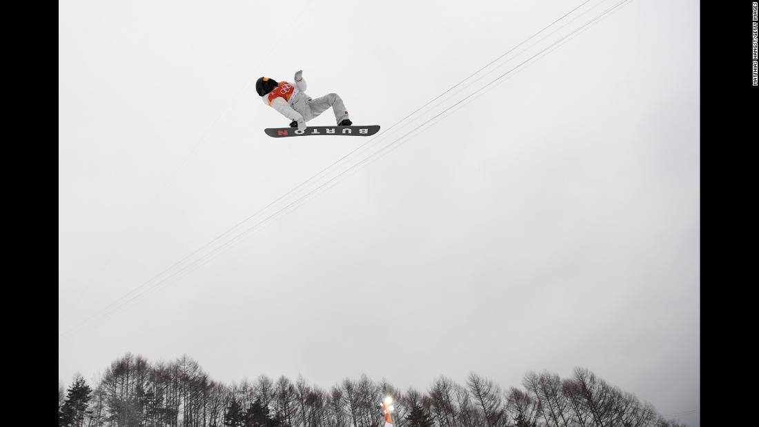 White soars in the air during one of his three halfpipe runs.